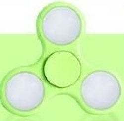 Tuff-Luv Glowing Fidget Spinner - Green