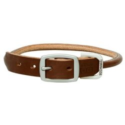 """Terrain D.o.g. Bridle Leather Rolled Dog Collar 21"""" 19 - 22 In. 1 In. Width Brown"""