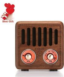 Jimeng Retro Radio Vintage Bluetooth Speaker Walnut Wood Fm Radio 800MAH Rechargeable Battery With Speaker Best Sounds Design Lo