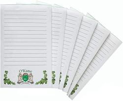O'kane Irish Coat Of Arms Notepads - Set Of 6