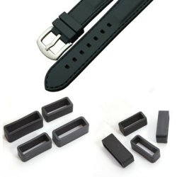 PVC Watch Strap Retaining Hoop Loop Rubber Retainer Buckle Holder