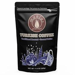Mahlas Gourmet Turkish Coffee - Premium Quality - Traditional Roasted And Ground Coffee - Ground At Natural Stone Mills - Produced From Fresh Harvest