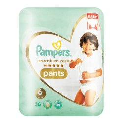 Pampers Premium Care 36 Nappies Size 6 Value Pack