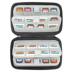 Sisma 72 Game Cartridge Holders Hard Carrying Case For Organizing Nintendo Switch 3DS Ds Sony Ps Vita Games Sd Microsd Memory Cards Black SVG180901GC