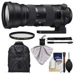 Sigma 150-600MM F 5.0-6.3 Sports Dg Os Hsm Zoom Lens + Backpack + Filters + Monopod Kit For Nikon D3300 D5500 D7100 D7200 D610 D