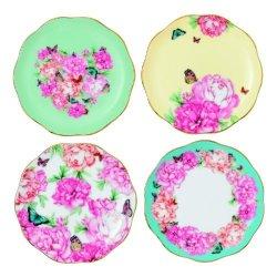 Royal Albert Blessings Joy Gratitude And Devotion Tidbit Plates Designed By Miranda Kerr 3.9-inch Set Of 4