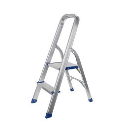 Livebest Aluminium Folding Home 2 Step Non-slip Ladder