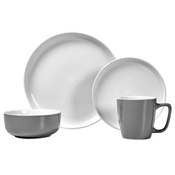 ALWAYS HOME - 16 Piece 2 Tone Dinner Set Duckegg
