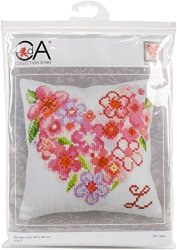 Rto CD5262 Collection D'art Stamped Needlepoint Cushion Kit 40X40CM-FOR You You For You