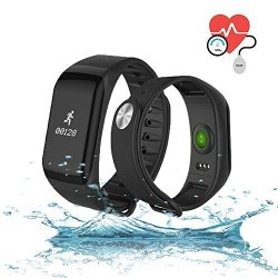 QIANXIANG Waterproof Sport Tracker Watch fitness Tracker Bands With Activity Heart Rate And Sleep Monitor Blood Oxygenpressure Monitor Step Calorie Counter Wristband Smart Watch For