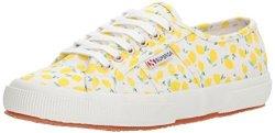 Superga Women's 2750 Linenfruitw Sneaker Lemon 38 M Eu 7.5 Us