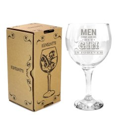 GinSanity - Gin Cocktail Balloon Glass - Men Come & Go