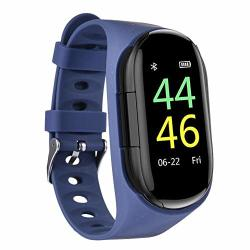 """Goodshare Smart Watch Bluetooth Earphone M1 Ai Fitness Tracker Activity Tracker With 0.96"""" Touch Screen Waterproof Pedometer Smartwatch With Sleep Monitor For Ios Android"""