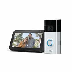 Ring Video Doorbell 2 With Echo Show 5 Charcoal