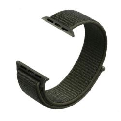 Dark Olive 38MM Soft Nylon Band With Hook And Loop Fastener For Apple Watch