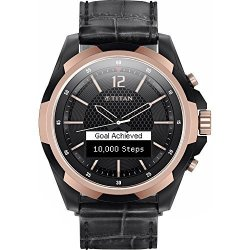 Titan Ium Smartwatch W2H98AA - Rose Gold With Black Leather Band