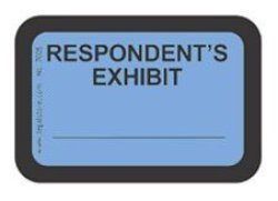 "LegalStore.com Legalstore Exhibit Labels ""respondent's Exhibit"" Blue Laser Compatible On 8.5""X11"" Sheets"