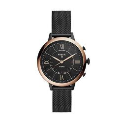 Women's Fossil Jacqueline Stainless Steel Mesh Hybrid Smartwatch Color: Black Model: FTW5030