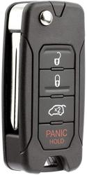 KeylessOption Keyless Entry Remote Control Fob Flip Key Shell Case Button Replacement For SKE12501