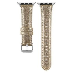 Ladies Glitter Leather Watch Strap For Apple Watches