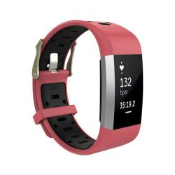 Killerdeals Silicone Strap For Fitbit Charge 2 - Red & Black