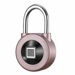 Fingerprint Padlock Smart Metal Waterproof Ios android App Smart Remote Control Keyless Luggage Lock For Bag Door Backpack Bike