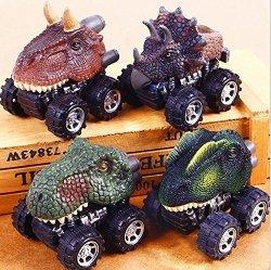 LTDD Dinosaur Model Car Toys Pull Back Children Kids Cool Toys Gift Dilophosaurus