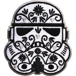 """EasyBuyingShop Star Wars Official Stormtrooper Helmet Alt 2.5""""X3"""" Logo Sew Ironed On Badge Embroidery Applique Patch"""