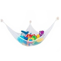 SODIAL White Practical Toys Hammock Keep Baby Playroom Tidy Storage Baby Toy Holder 806060CM