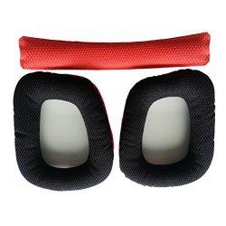 Tinksky 1PCS Logitech G430 G930 Ear Pads Soft Foam Earpads Ear Cushions  With Head Beam Cushion Red+black | R | Handheld Electronics | PriceCheck SA