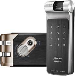 Gateman G-swipe Fingerprint Biometrics Vertibolt Rim Lock English Voice Guidance Interface Master Mode Forced Lock Automatic Locking Volume Contro