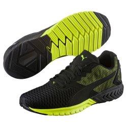 more photos eb7f4 ffdd5 Deals on Puma Men's Ignite Dual Running Shoes - Black yellow ...