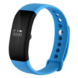 V66 0.66 Inch Bluetooth Smart Bracelet Support Heart Rate Monitor Pedometer Calls Remind Sleep Monitor Sports Monitor Alarm Anti-lost Compatible With Android And Ios Phones Blue