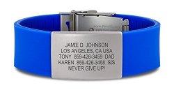 Road ID Bracelet - The Wrist Id Elite - Identification Bracelet Id Wristband And Sport Id