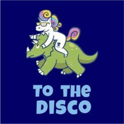 Unicorn To The Disco Women's Navy T-Shirt Medium