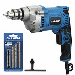 Professional Glaxia 6A 3 8-INCH Corded Drill Variable Speed 0-3200RPM 6.56FEET 2M Cord Aluminum Gear Case Rubberized Grip Forwar