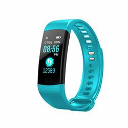 Mrxue Fitness Activity Tracker Waterproof Heart Rate Monitor For Kids Women Men Bluetooth Pedometer For Android Ios Smartphone Green