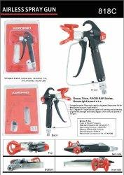 AEROPRO USA A818C Pressure Feed Airless Spray Gun Compatible With Graco Titan Ryobi Rap Series And Homeright Brands