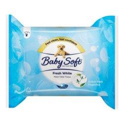Baby Soft Moist Toilet Tissue Fresh White 84'S