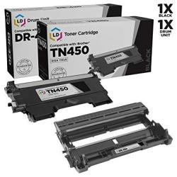Toner Kingdom New Compatible With Brother TN450 TN420 High Yield Black Toner Cartridge And Brother DR420 Drum - 1 Pack Toner & 1 Pack Drum