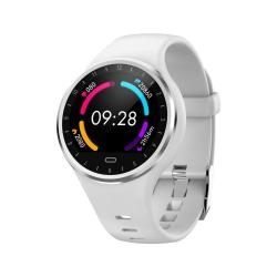 M8 1.22 Inch Tft Color Screen IP67 Waterproof Smart Watch Support Call Reminder heart Rate Monitoring blood Pressure Monitoring sleep Monitoring White
