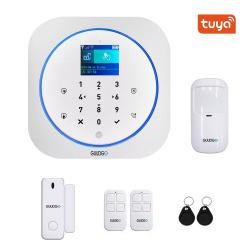 Guudgo Tuya App Smart Wifi GSM Home Security Alarm System Detector Alarm 433MHZ Compatible With Alexa Google Home Ifttt - White Full Set