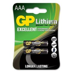 GP Batteries Gp Lithium Aaa 1.5V Card Of 2