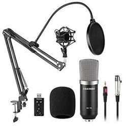 Aokeo Ak-70 Professional Studio Broadcasting Recording Condenser Microphone & Ak-35 Adjustable Recording Microphone Suspension S