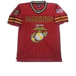 Jwm Men's Football Jersey Us Marines Xlarge