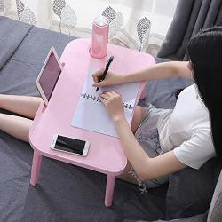 DESK Laptop For Bed Kids Lap Tray Phone Tablet Holder And Cup Holder Portable Laptop With Foldable Legs Pink