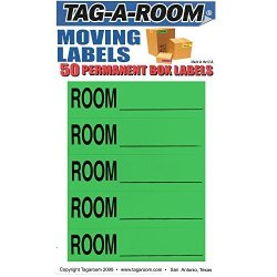 Tag-A-Room Color Coded Moving Box Labels Room Blank Green