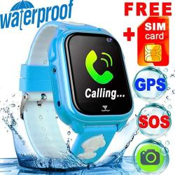 Sim Card Included IP68 Waterproof Kid Smart Watch Phone Gps Tracker For  Girls Boys Fitness Tracker Sos Camera Anti-los   R   Smart Watches  