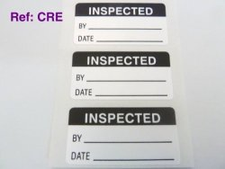 Minilabel Pack Of 50 Inspected Labels Tamper Evident Labels 40X20MM Rectangle Black On White Stickers Break Up On Attempted Removal