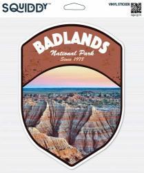 "Squiddy Badlands South Dakota National Park - Vinyl Sticker 8"" Tall"